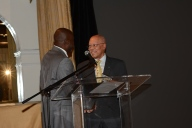 His Excellency greets writer and director Dr. Ian Strachan
