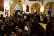 The crowds enjoys the various presentations at the event