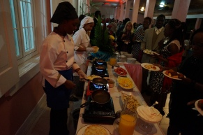 Government house and THE GKC went all out in ensuring that the food was hot and satisfying